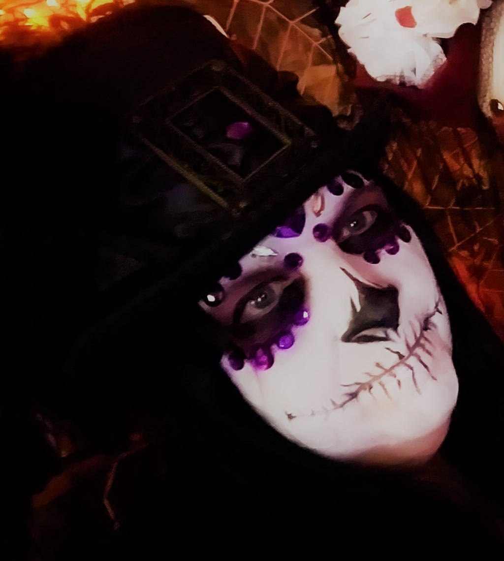 Day of the Dead in Purple by D-Angeline