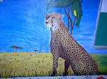 Cheetah mural by D-Angeline