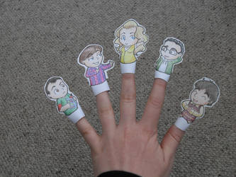 Big Bang Theory finger puppets by PleaseFreezeMe