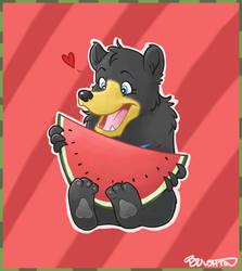 Bears love watermelon by PleaseFreezeMe