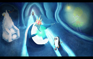 Ice King and little gunter by ExclusiveHaze