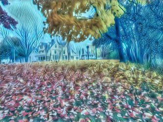 House and leaves by delha4