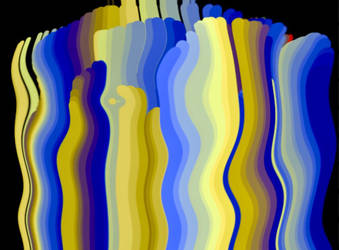 Yellows and blues by delha4