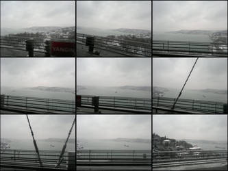 Passing the Bosphorus Bridge after snow... by nerval