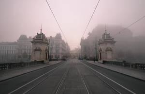 National Theatre in Mist by ondrejZapletal