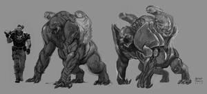 Gears of War 4 Concept art by Ubermonster