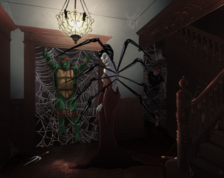 The Jorogumo and her Prey by Hummerhouse