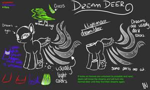 Dream Deer species ref by Zephyrii