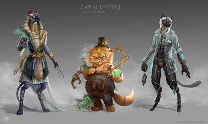 Cat Scientist by Ukitoki