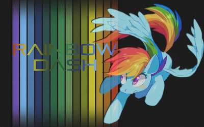 MLP:FiM Rainbow Dash Wallpaper 2 by DJ-TaviStar
