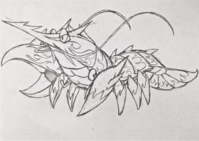 Project Fakemon: Prawzooka (or Shrimpedo) by XXD17