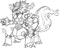Project Fakemon: Volcanion Giga Forme by XXD17