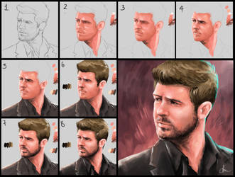 Robin Thicke - Step by step by daimoc-art