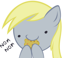 Request: Derpy - Nom Nom by Ocarina0fTimelord
