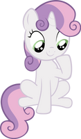 Sweetie Belle - Sitting by Ocarina0fTimelord
