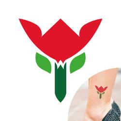 Flat flower tattoo design by C-Cris21