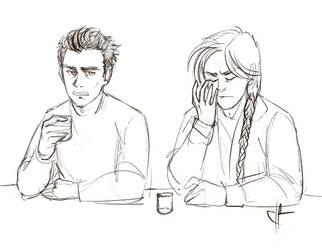 Ian and Ellis sketch by Zsoszy