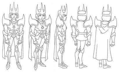 ANIMATION: JL Unlimted: Modred in armor turn by StephenBJones
