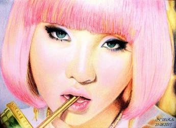 Minzy - Falling In Love (Colour Drawing) by diamondnura