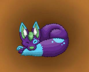 Sleeping Fennec by Tienala