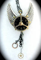 Steampunk Black Silver Wing by Lucky978
