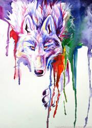 Rainbow Wolf by Lucky978