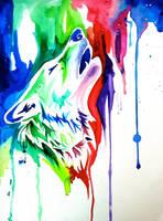 Rainbow Wolf 4 (On Ebay) by Lucky978