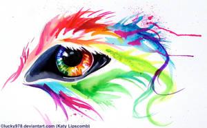 Rainbow Wolf Eye by Lucky978