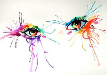 Rainbow Eyes by Lucky978