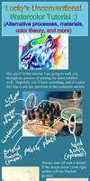 Rainbow Wolf Watercolor Tutorial by Lucky978