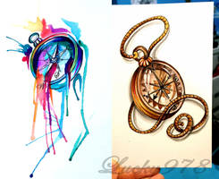 Compass Tattoo Designs by Lucky978