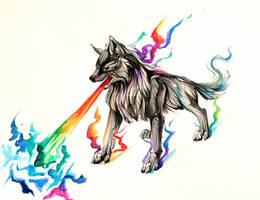 Rainbow Fire Design by Lucky978