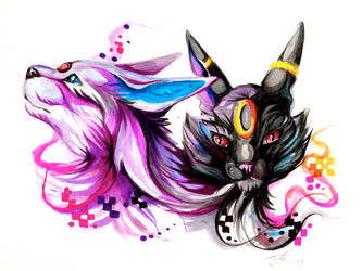 Espeon and Umbreon -Ebay- by Lucky978