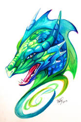 Dragon Head Design by Lucky978