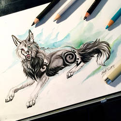 Night Fire Wolf by Lucky978