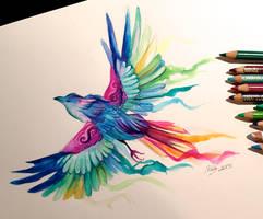 Day 23- Rainbow Bird by Lucky978