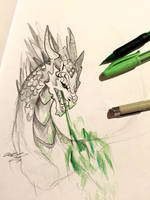 27- Dragon Sketch by Lucky978
