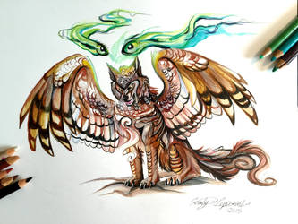 139- Owl Wolf by Lucky978