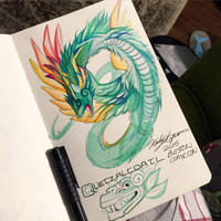 211- Quetzalcoatl Sketch by Lucky978