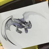 213- Toothless Sketch by Lucky978
