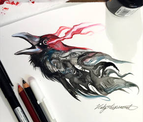 283- Ink Raven by Lucky978
