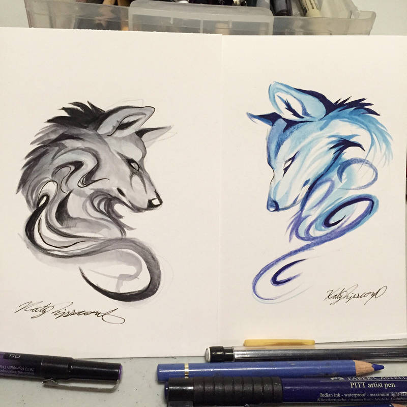 Patreon Wolf Sketches by Lucky978