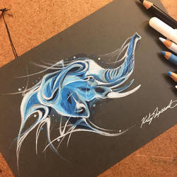 Elephant Patronus by Lucky978