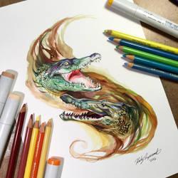Crocodiles by Lucky978