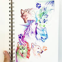 Wolf Sketches by Lucky978