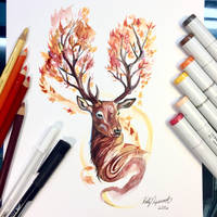 Autumn Stag by Lucky978