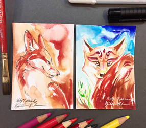 Fox ACEO Collaborations by Lucky978