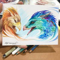 Occamy and Thunderbird by Lucky978
