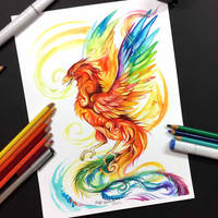 Rainbow Phoenix by Lucky978