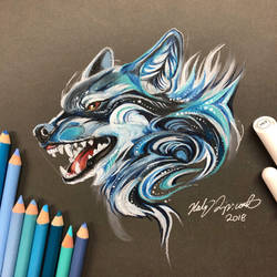 17- Snarly Wolf by Lucky978